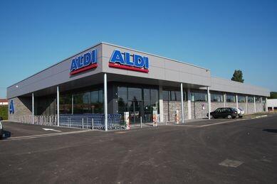 Construction d'un magasin Aldi à Chatenoy