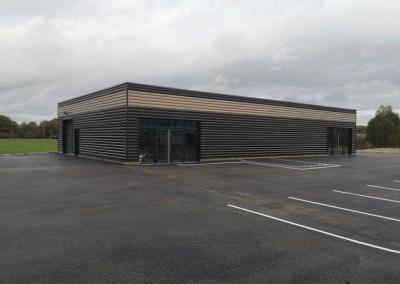 Construction d'un bâtiment de commerce BIOMONDE CLIMENT à Saône