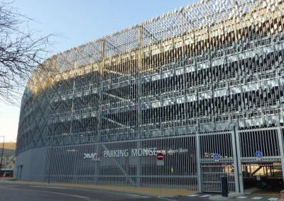 Construction du parking Monge de Dijon
