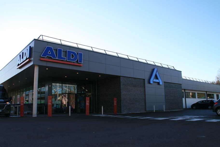 Construction du magasin Aldi de Clairvaux Les Lacs