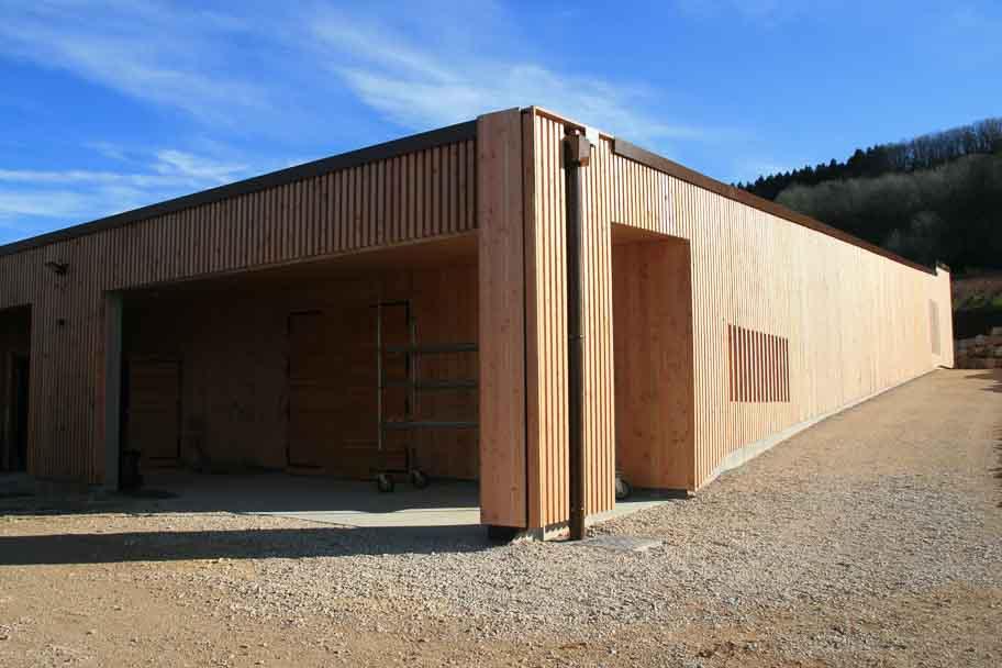 Construction d'une cuverie pour le domaine du Pélican à Montagny Les Arsures