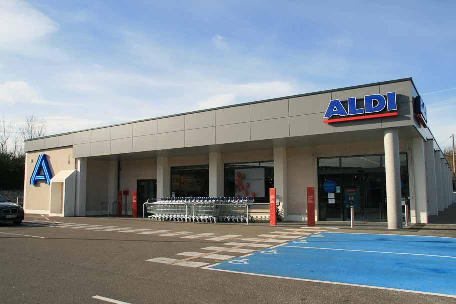 Réaménagement du magasin Aldi d'Arbois
