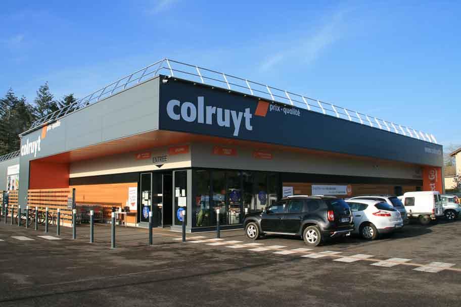 Construction du magasin Colruyt de Givry