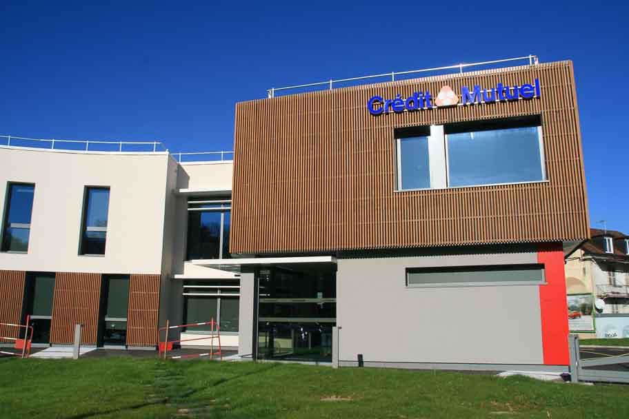 Construction d'une agence bancaire Crédit Mutuel à Lons Le Saunier