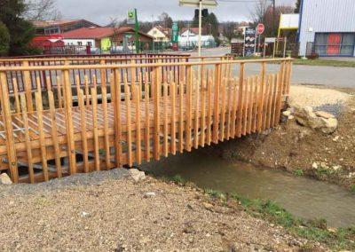 Création de plusieurs passerelles sur ruisseaux sur la commune de Sancey Le Grand