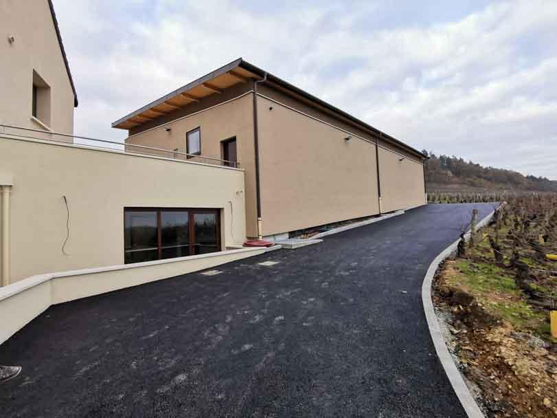 Extension de la cuverie vinicole du domaine Charton de Mercurey